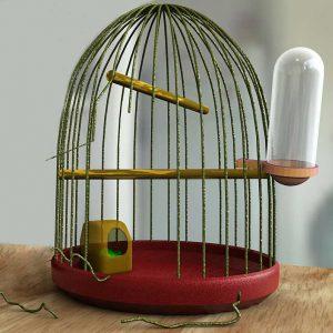 Vogelkäfig ohne Inhalt